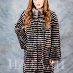дамско палто от плетена норка